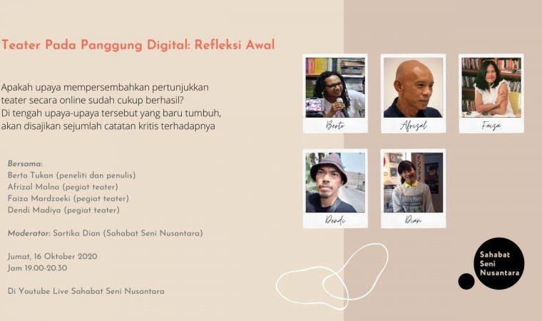 Teater Pada Panggung Digital: Refleksi Awal